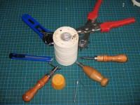 verwendete Lederwerkzeuge