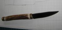 handgeschmiedetes Messer mit Hirschhorngriff