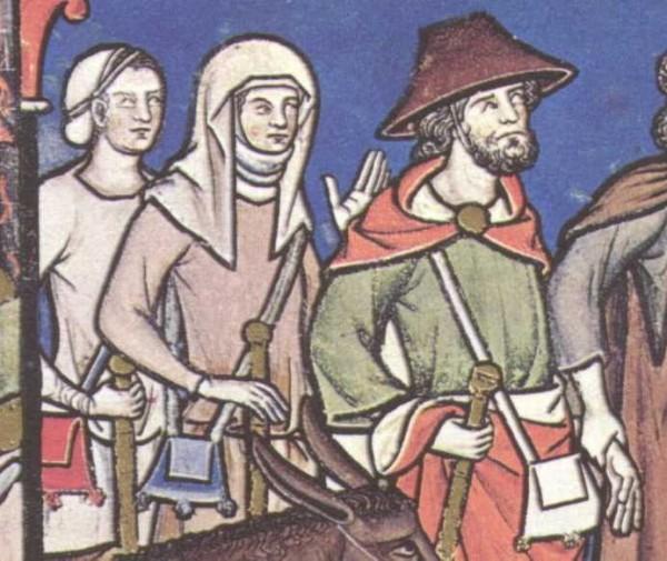 Pilgertaschen in Maciejowski-Bibel